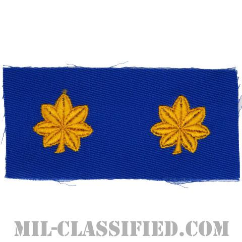 少佐(Major (MAJ))[カラー/空軍ブルー生地/階級章/パッチ/ペア(2枚1組)]の画像