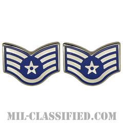 軍曹(Staff Sergeant)[カラー/空軍階級章/バッジ/ペア(2個1組)]の画像