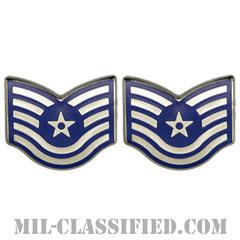 技能軍曹(Technical Sergeant)[カラー/空軍階級章/バッジ/ペア(2個1組)]の画像
