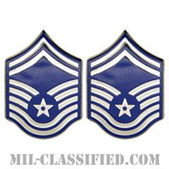 上級曹長(Senior Master Sergeant)[カラー/空軍階級章(1991-)/バッジ/ペア(2個1組)]の画像