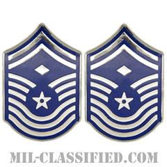 先任最上級曹長(First Sergeant (E-9))[カラー/空軍階級章(-1991)/バッジ/ペア(2個1組)]の画像