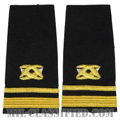 中尉 土木科(Lieutenant Junior Grade (LTJG), Civil Engineer Corps)[ショルダー階級章/ペア(2枚1組)]の画像