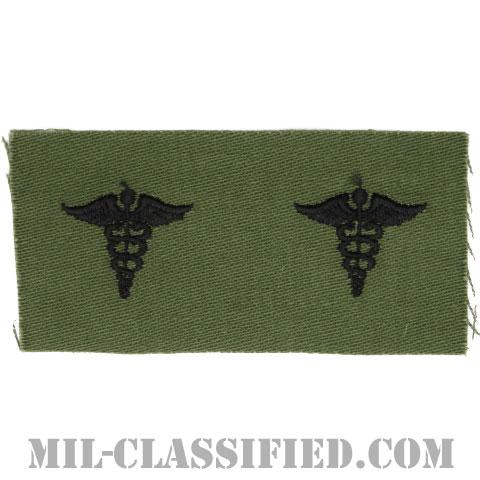 衛生科章(Medical Corps)[サブデュード/兵科章/1960s/コットン100%/パッチ/ペア(2枚1組)]の画像