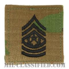 最先任上級曹長(Command Sergeant Major (CSM))[OCP/階級章/ベルクロ付パッチ]の画像