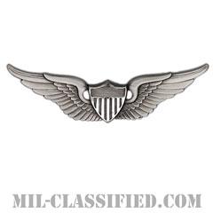 飛行士章 (ベーシック・パイロット)(Army Aviator (Pilot), Basic)[カラー/燻し銀/バッジ]の画像
