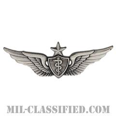飛行医師章 (シニア)(Flight Surgeon, Senior)[カラー/燻し銀/バッジ]の画像
