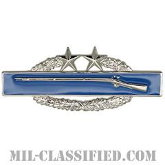 戦闘歩兵章 (サード)(Combat Infantryman Badge (CIB), Third Award)[カラー/鏡面仕上げ/バッジ]の画像