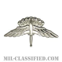 自由降下章 (ベーシック) (Military Freefall Parachutist Badge, HALO, Basic)[カラー/鏡面仕上げ/バッジ]の画像