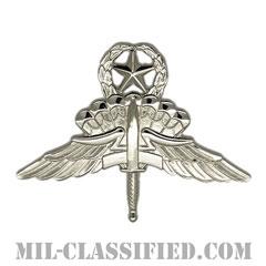 自由降下章 (マスター) (Military Freefall Parachutist Badge, HALO, Jumpmaster)[カラー/鏡面仕上げ/バッジ]の画像