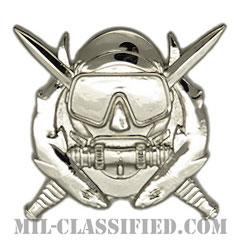 特殊作戦潜水員章(Diver Badge, Special Operations Diver)[カラー/鏡面仕上げ/バッジ]の画像