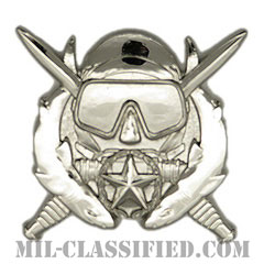 特殊作戦潜水責任者章(Diver Badge, Special Operations Diving Supervisor)[カラー/鏡面仕上げ/バッジ]の画像