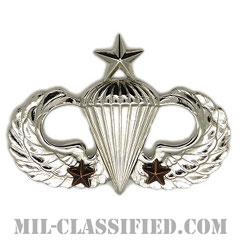 戦闘空挺章 (シニア) 降下2回(Combat Parachutist Badge, Senior, Two Jump)[カラー/鏡面仕上げ/バッジ]の画像