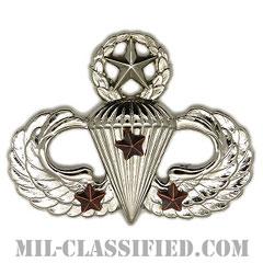 戦闘空挺章 (マスター) 降下3回(Combat Parachutist Badge, Master, Three Jump)[カラー/鏡面仕上げ/バッジ]の画像