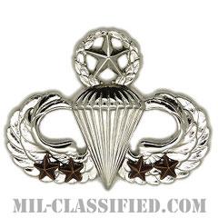 戦闘空挺章 (マスター) 降下4回(Combat Parachutist Badge, Master, Four Jump)[カラー/鏡面仕上げ/バッジ]の画像