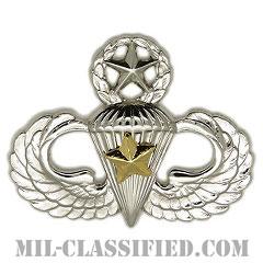 戦闘空挺章 (マスター) 降下5回(Combat Parachutist Badge, Master, Five Jump)[カラー/鏡面仕上げ/バッジ]の画像