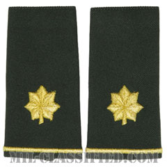 少佐(Major (MAJ))[グリーン/ショルダー階級章/ロングサイズ肩章/ペア(2枚1組)]の画像