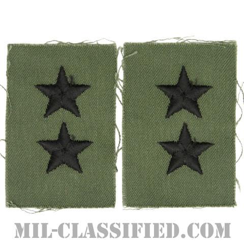 少将(Major General (MG))[サブデュード/階級章/1960s/コットン100%/パッチ/ペア(2枚1組)]の画像