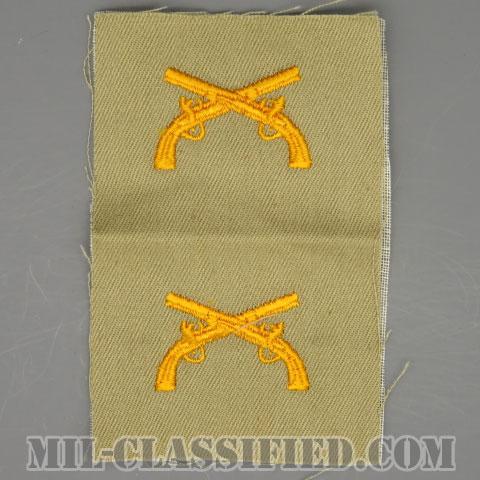 憲兵科章(Military Police Corps)[カラー/カーキ生地/兵科章/ペア(2枚1組)]の画像