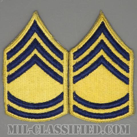 一等軍曹 (戦闘員)(Sergeant First Class (SFC) Combat)[カットエッジ/階級章(1951-1959)/パッチ/ペア(2枚1組)]の画像