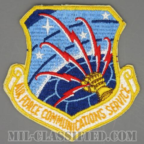 空軍通信総本部(Air Force Communications Service)[カラー/カットエッジ/パッチ/1960s/4インチ規格]の画像