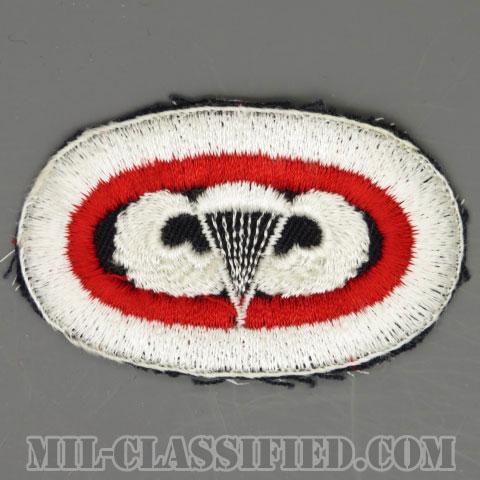 空挺コマンド (空挺章刺繍)(Airborne Command, Parachutist Badge)[カラー/カットエッジエッジ/オーバルパッチ/1点物]の画像