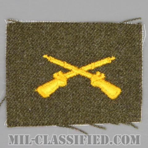 歩兵科章(Infantry Branch Insignia)[カラー/ウール生地/兵科章/パッチ]の画像
