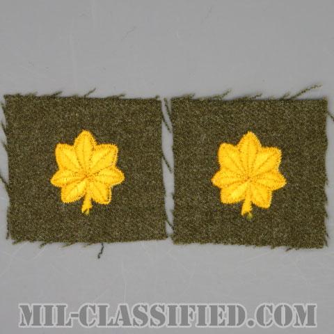 少佐(Major (MAJ))[カラー/ウール生地/階級章/パッチ/ペア(2枚1組)]の画像