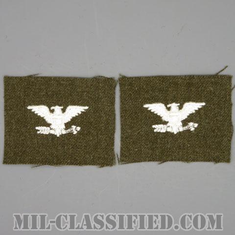 大佐(Colonel (COL))[カラー/ウール生地/階級章/パッチ/ペア(2枚1組)]の画像