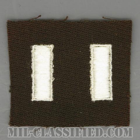 中尉(First Lieutenant (1LT))[カラー/ギャバジン生地/階級章/パッチ/ペア(2枚1組)]の画像