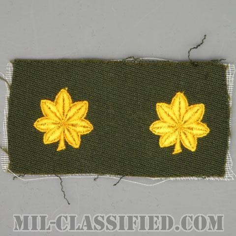少佐(Major (MAJ))[カラー/ギャバジン生地/階級章/パッチ/ペア(2枚1組)]の画像