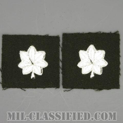 中佐(Lieutenant Colonel (LTC))[カラー/ギャバジン生地/階級章/パッチ/ペア(2枚1組)]の画像