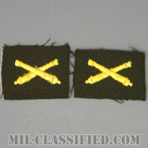 砲兵科章(Field Artillery)[カラー/ギャバジン生地/兵科章/パッチ/ペア(2枚1組)]の画像