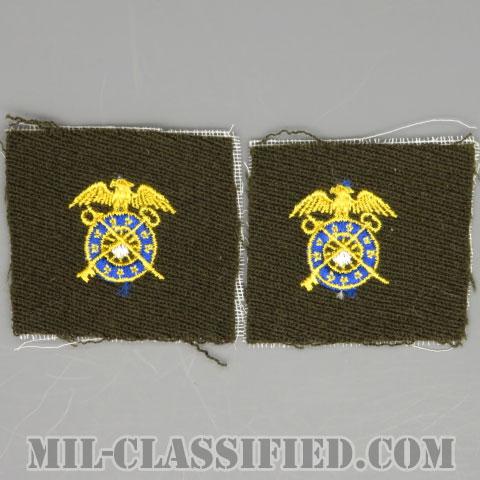 需品科章(Quartermaster Corps)[カラー/ギャバジン生地/兵科章/パッチ/ペア(2枚1組)]の画像