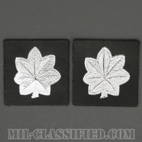 中佐(Lieutenant Colonel (LTC))[カラー/レザー生地/箔押し/階級章/パッチ/ペア(2枚1組)]の画像