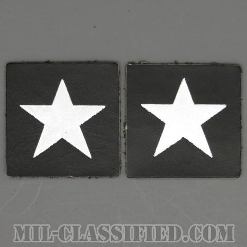 准将(Brigadier General (BG))[カラー/レザー生地/箔押し/階級章/パッチ/ペア(2枚1組)]の画像