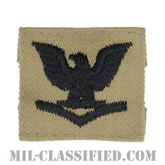 三等兵曹(Petty Officer Third Class)[デザート/海軍階級章/キャップ用パッチ]の画像