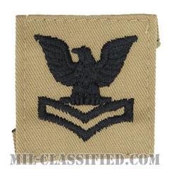 二等兵曹(Petty Officer Second Class)[デザート/海軍階級章/キャップ用パッチ]の画像