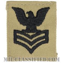 一等兵曹(Petty Officer First Class)[デザート/海軍階級章/キャップ用パッチ]の画像