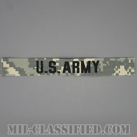 U.S.ARMY [UCP(ACU)/ブラック刺繍/ネームテープ/縫い付け用パッチ]の画像