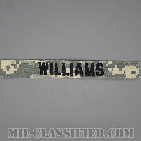 WILLIAMS [UCP(ACU)/ブラック刺繍/ネームテープ/縫い付け用パッチ]の画像