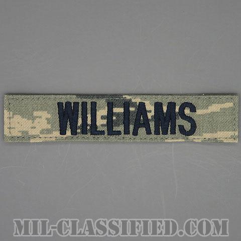 WILLIAMS [ABU/ブルー刺繍/空軍ネームテープ/ベルクロ付パッチ]の画像