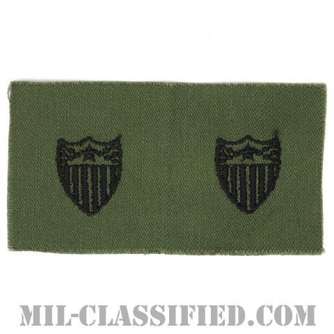 総務科章(Adjutant General's Corps)[サブデュード/兵科章/1960s/コットン100%/パッチ/ペア(2枚1組)]の画像