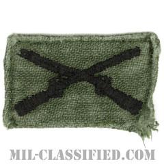 歩兵科章(Infantry Branch Insignia)[サブデュード/兵科章/1960s/コットン100%/パッチ/中古1点物]の画像