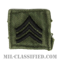 軍曹(Sergeant (SGT))[サブデュード/階級章/1960s/コットン100%/パッチ/中古1点物]の画像