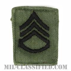 二等軍曹(Staff Sergeant (SSG))[サブデュード/階級章/1960s/コットン100%/パッチ/中古1点物]の画像