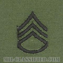 二等軍曹(Staff Sergeant (SSG))[サブデュード/階級章/パッチ/ペア(2枚1組)]画像
