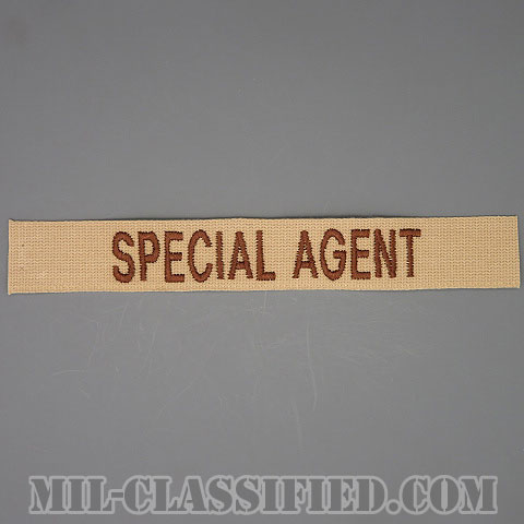 SPECIAL AGENT(Office of Special Investigations(OSI)/アメリカ空軍特別捜査局特別捜査官) [デザート/空軍ネームテープ/パッチ]の画像