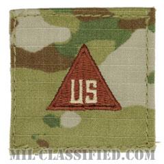民間/軍属/非戦闘員用徽章(Civilians, Nonconbatant)[OCP/空軍ブラウン刺繍/ベルクロ付パッチ]の画像