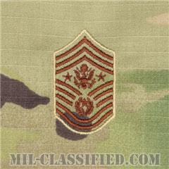 空軍最先任上級曹長(Chief Master Sergeant of the Air Force (CMSAF))[OCP/空軍階級章/キャップ・チェスト用/縫い付けパッチ]の画像