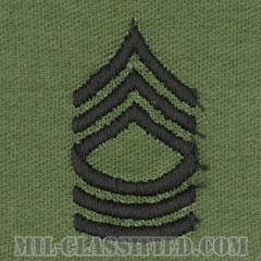 曹長(Master Sergeant (MSG))[サブデュード/階級章/パッチ/ペア(2枚1組)]の画像